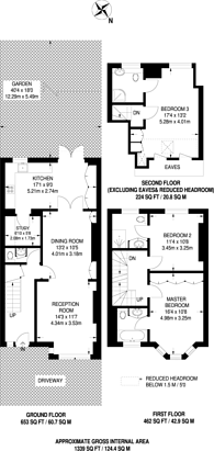 Large floorplan for Tranmere Road, Earlsfield, SW18