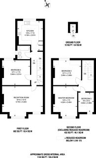 Large floorplan for Whitworth Road, South Norwood, SE25