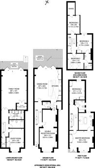 Large floorplan for Doneraile Street, Bishop's Park, SW6