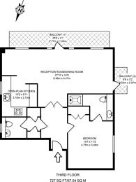 Large floorplan for Felstead Gardens, Isle Of Dogs, E14