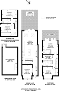 Large floorplan for Cliveden Road, Wimbledon, SW19
