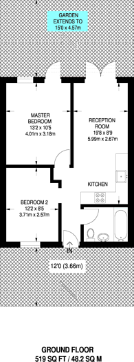 Large floorplan for Hartham Road, Islington, N7