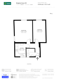 Large floorplan for Halton Road, Islington, N1