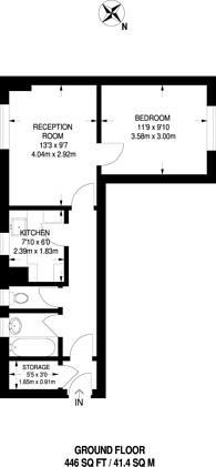 Large floorplan for Stockwell, Stockwell, SW4