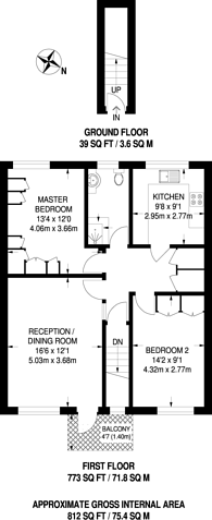 Large floorplan for Stamford Close, Harrow Weald, HA3