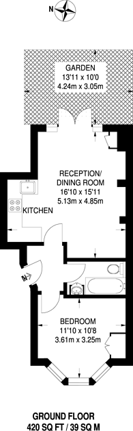 Large floorplan for Ballater Road, Brixton, SW2