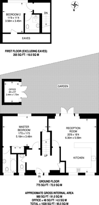 Large floorplan for Copper Tree Mews, Grove Park, W4