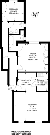 Large floorplan for Queen's Gate, South Kensington, SW7