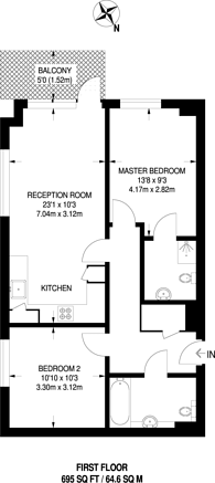 Large floorplan for Watson Place, South Norwood, SE25