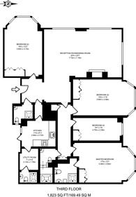Large floorplan for Albion Street, Bayswater, W2