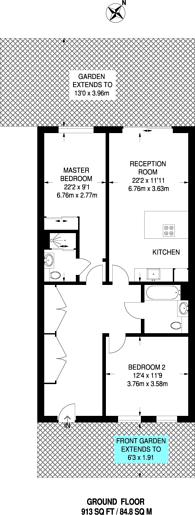Large floorplan for Allcroft Road, Kentish Town, NW5