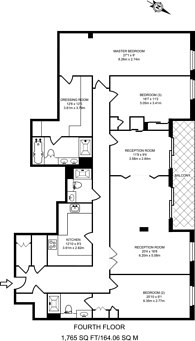 Large floorplan for Compass House, Chelsea Creek, SW6