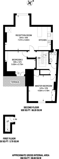 Large floorplan for Grange Road, Chiswick, W4