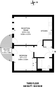 Large floorplan for Astell Road, Kidbrooke, SE3