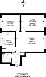 Large floorplan for Bowater Place, SE3, Blackheath, SE3