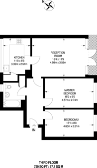 Large floorplan for Albany Road, Walthamstow, E10