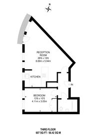 Large floorplan for Goldsmiths Row, Haggerston, E2
