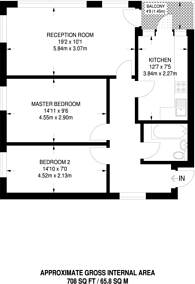 Large floorplan for Abbey Road, Kilburn, NW8