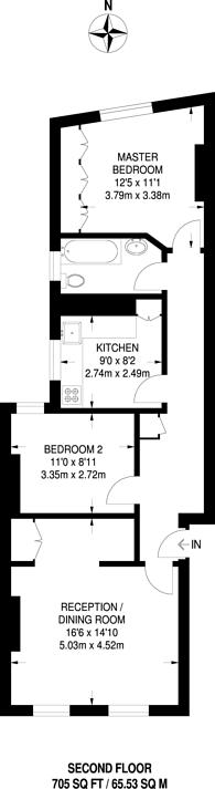 Large floorplan for New Kings Road, Hurlingham, SW6