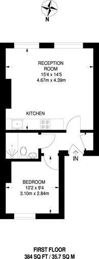 Large floorplan for Barnsbury Road, Barnsbury, N1