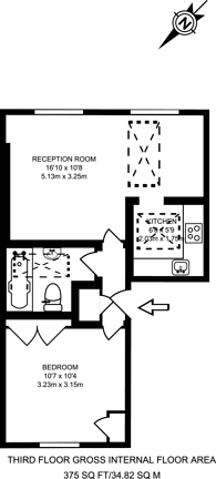 Large floorplan for Clifton Road, Little Venice, W9