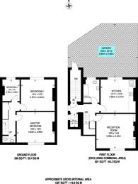 Large floorplan for Gipsy Road, West Norwood, SE27