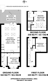 Large floorplan for Victory Road, Wimbledon, SW19