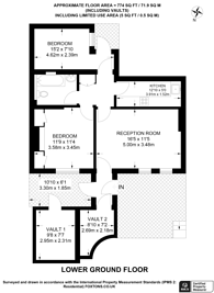 Large floorplan for Warwick Way, Pimlico, SW1V