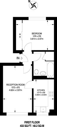 Large floorplan for Gladbeck Way, Enfield, EN2