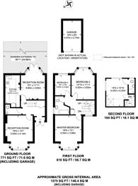 Large floorplan for Shamrock Way, Southgate, N14