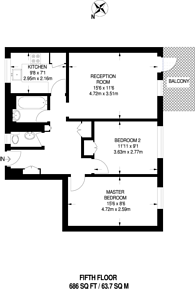 Large floorplan for Harben Road, Swiss Cottage, NW6