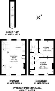 Large floorplan for Warwick Way, Pimlico, SW1V