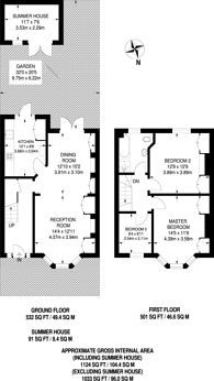Large floorplan for Seely Road, Tooting, SW17