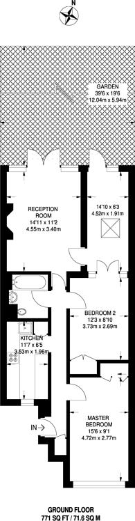 Large floorplan for Leicester Road, New Barnet, EN5