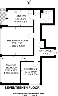 Large floorplan for Stubbs Point, Plaistow, E13