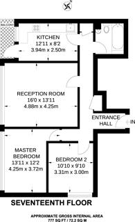 Large floorplan for Stubbs Point, Plaistow, E13