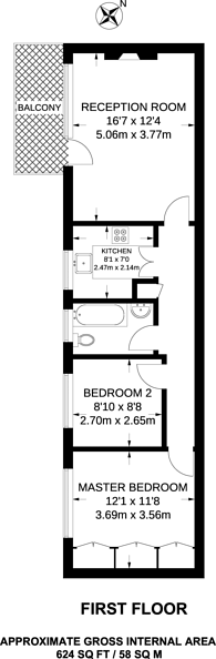 Large floorplan for Teignmouth Court, Mapesbury Estate, NW2