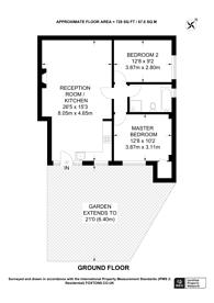 Large floorplan for Aylestone Avenue, Brondesbury Park, NW6