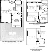 Large floorplan for Raeburn Close, Hampstead Garden Suburb, NW11