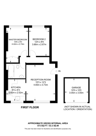 Large floorplan for Camden Road, Camden, N7