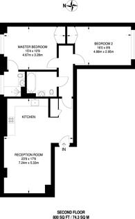 Large floorplan for Leonard Street, City, EC2A