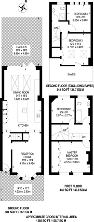 Large floorplan for Wilna Road, Wandsworth, SW18