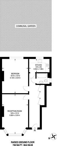 Large floorplan for Babington Road, Streatham, SW16