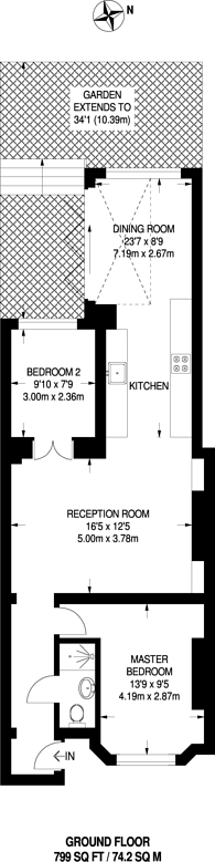 Large floorplan for Narcissus Road, West Hampstead, NW6