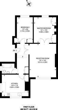 Large floorplan for Edith Grove, Earls Court, SW10