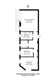 Large floorplan for Ashford Court, Cricklewood, NW2