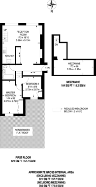 Large floorplan for Talbot Road, Notting Hill, W11