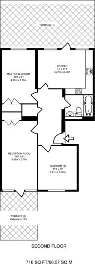Large floorplan for Warwick Road, Earls Court, W14