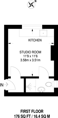 Large floorplan for Pembridge Villas, Notting Hill, W11