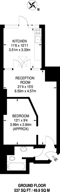 Large floorplan for Fordwych Road, Cricklewood, NW2